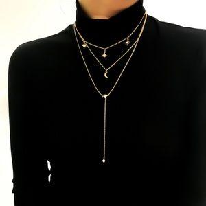 Unique Design//Moon N Star Long Necklaces